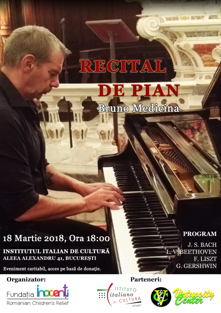 Piano Recital, performed by Bruno Medicina to benefit Inocenti children