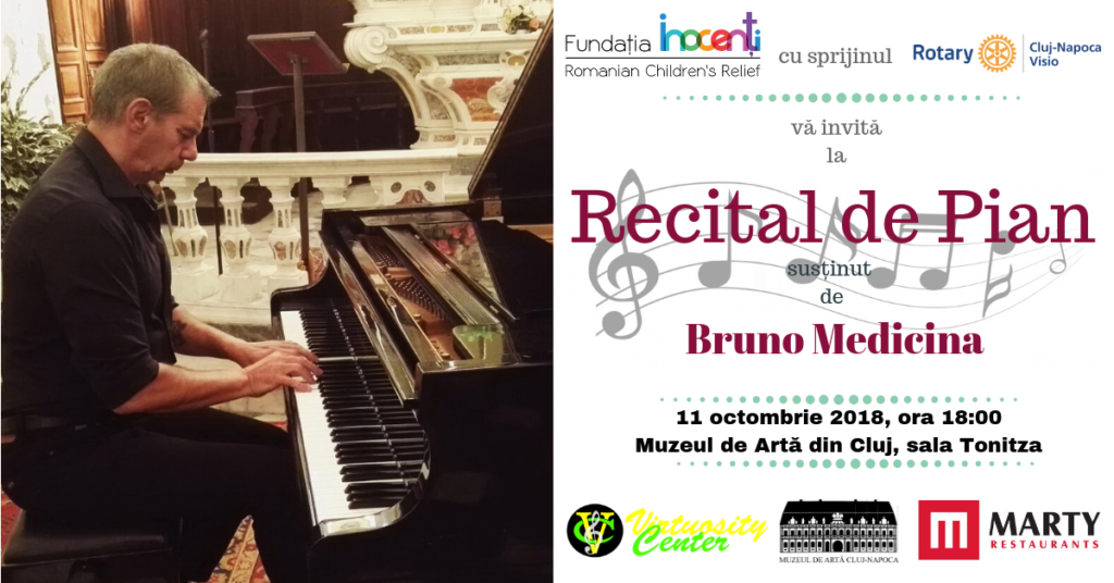 Piano Recital, performed by Bruno Medicina to benefit hospitalized children