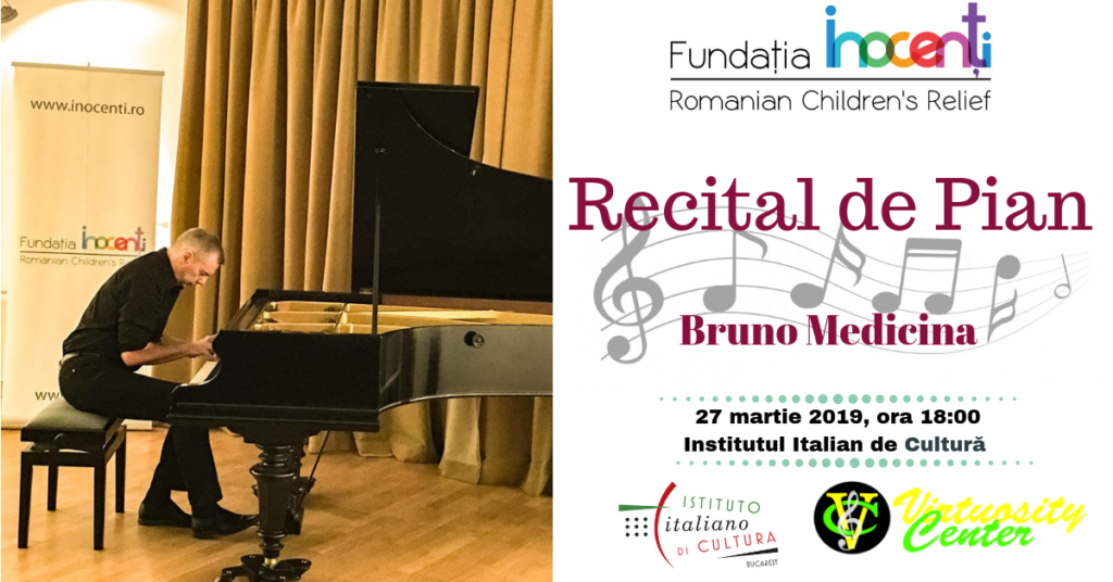 Piano Recital performed by Bruno Medicina to benefit Inocenti Foundation